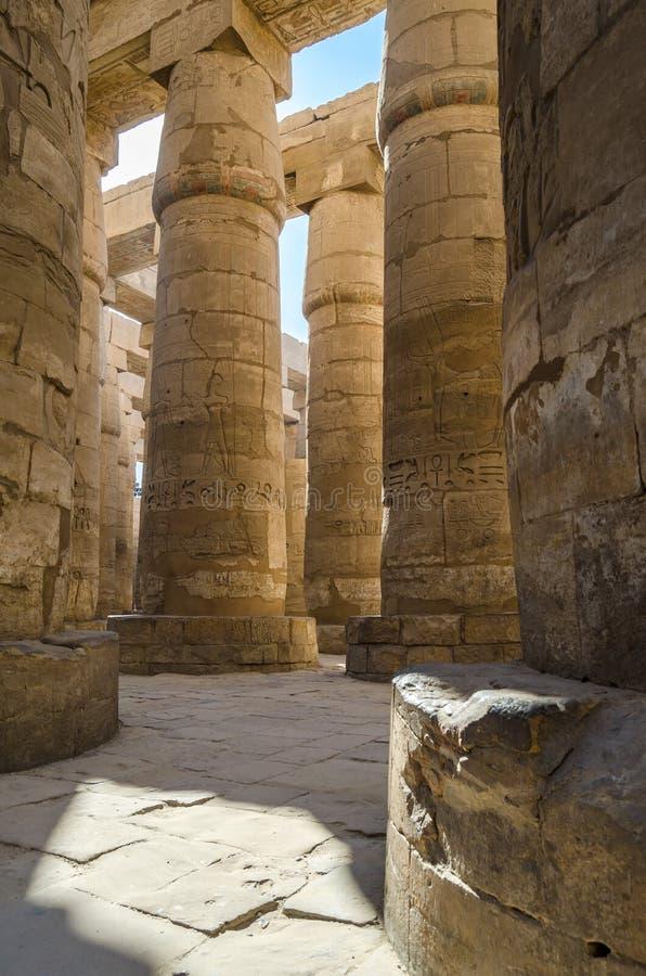 Columnas egipcias Luxor imagenes de archivo