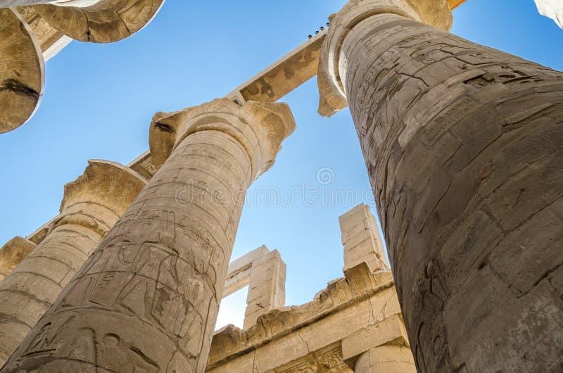 Columnas egipcias Luxor imagen de archivo