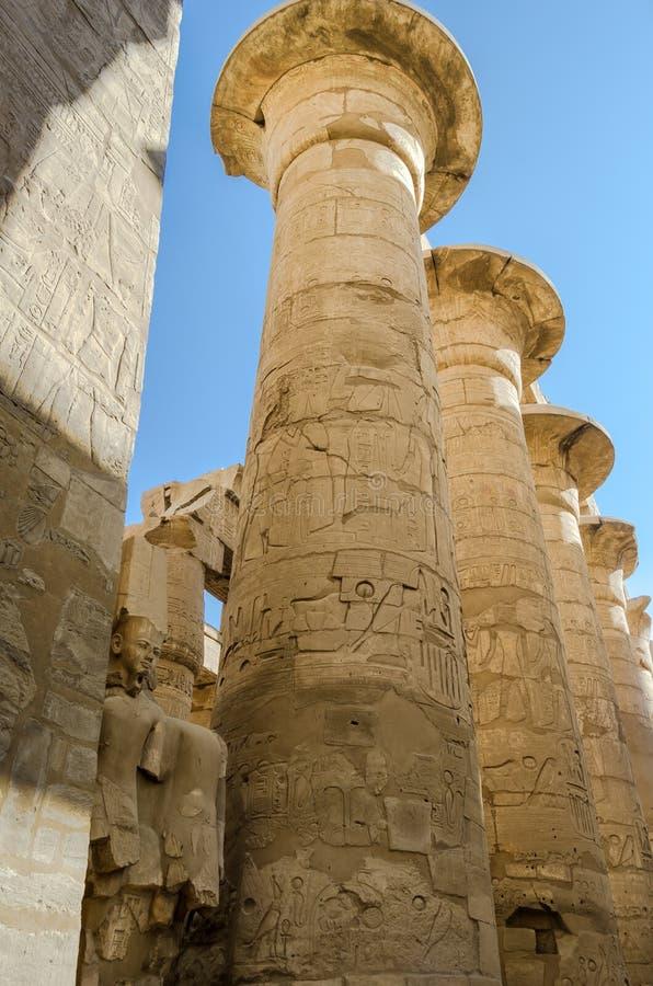 Columnas egipcias Luxor fotografía de archivo