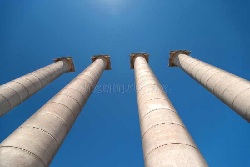 Columnas en Plaza de Espana foto de archivo libre de regalías
