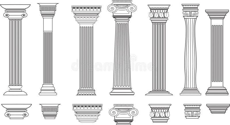 Columnas fijadas de 8 stock de ilustración