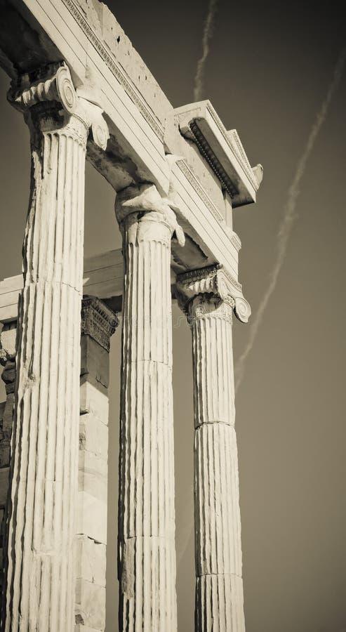 Columnas griegas imágenes de archivo libres de regalías