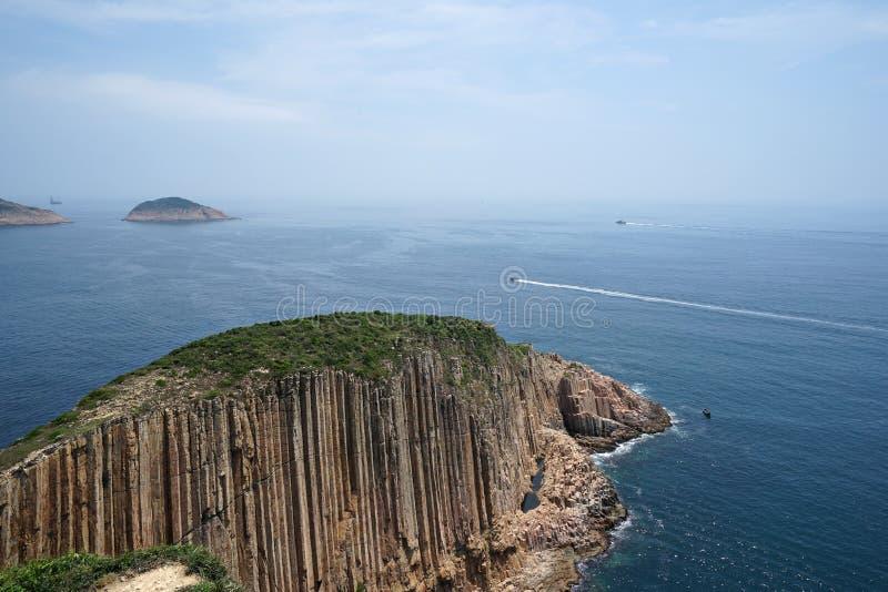 Columnas hexagonales y en Hong Kong 3 imagen de archivo