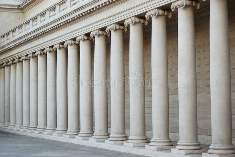 Columnas Iónicas Fotos de archivo