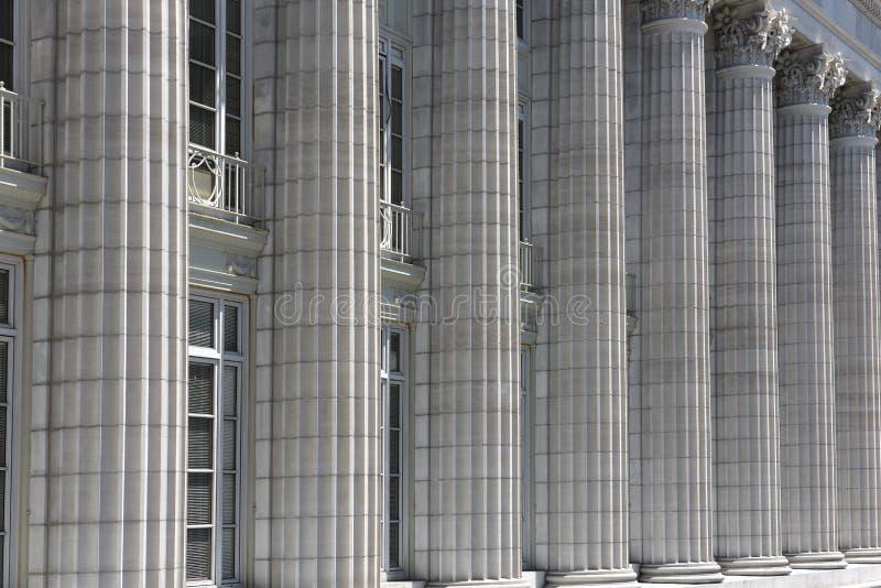 Columnas laterales del capitolio del estado de Missouri imagen de archivo libre de regalías