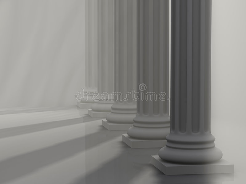 Columnas romanas 1 stock de ilustración