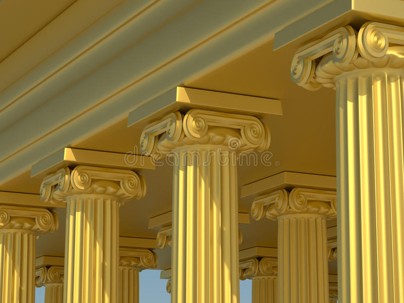 Columnas romanas stock de ilustración