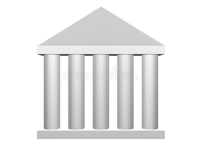 Columnas romanas de la ley y de la orden stock de ilustración