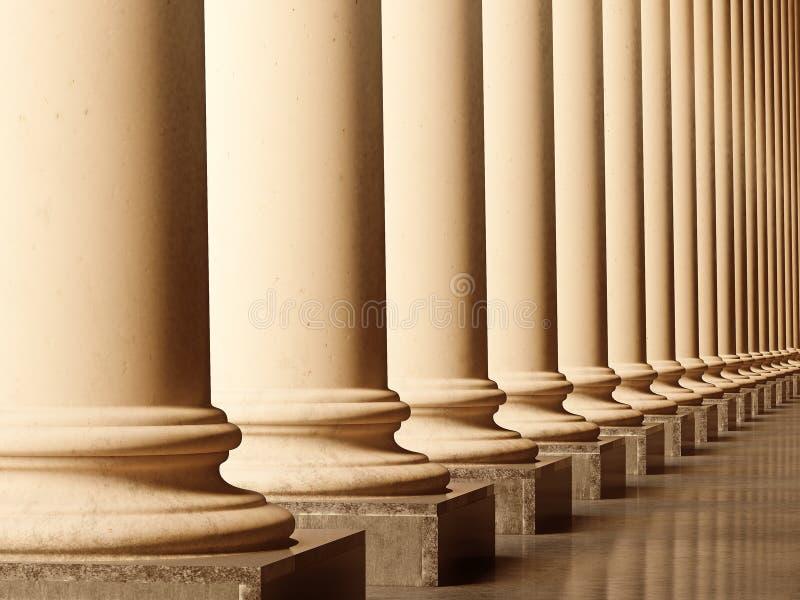 Columnas viejas stock de ilustración