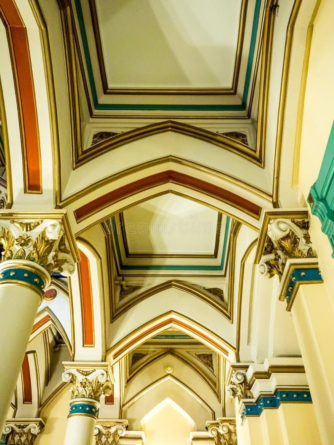 Columnas y techo en el edificio histórico, Richmond imágenes de archivo libres de regalías