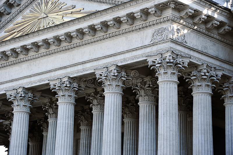 Columnata de la catedral de Kaz?n imagen de archivo libre de regalías