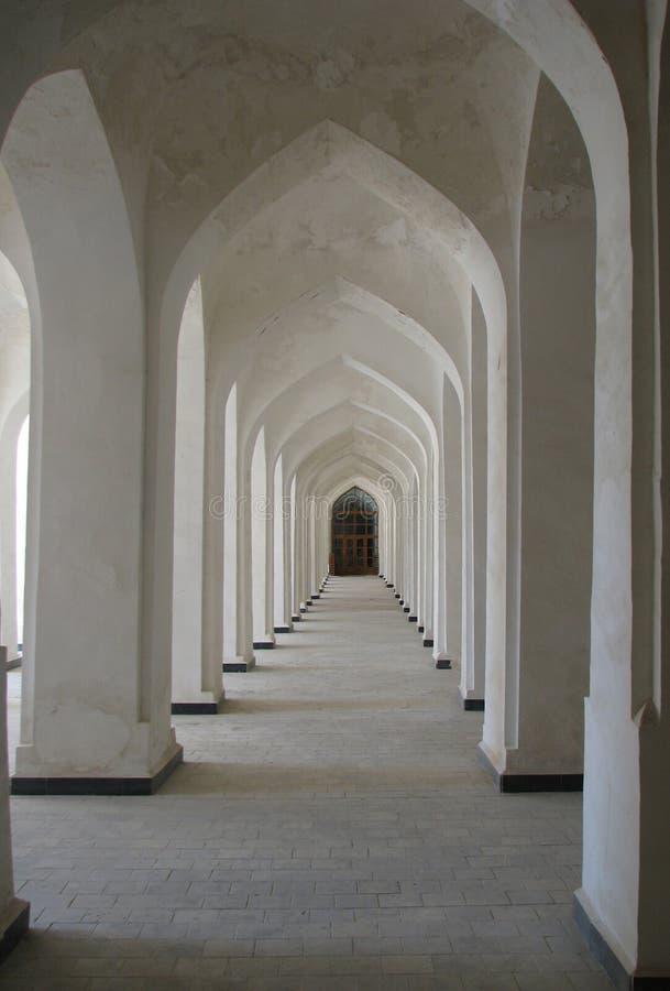 Columned Galerie stockbild