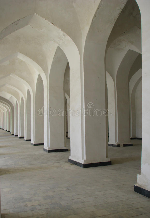 Columned gallery stock photos