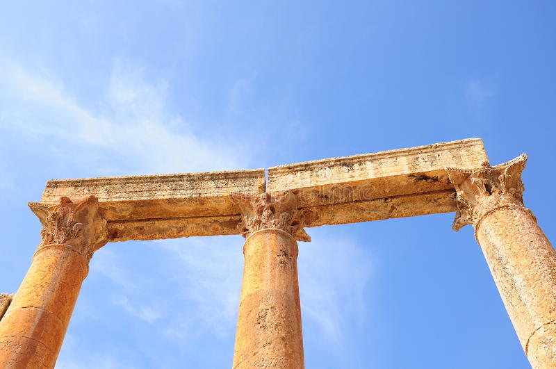 Download Columns stock image. Image of blue, architecture, greek - 14681849