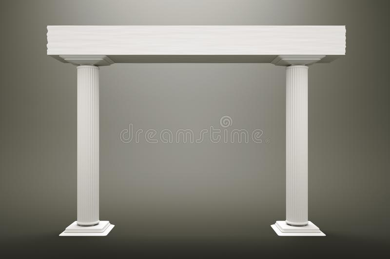 Download Columns stock illustration. Image of marble, frame, durable - 24586764