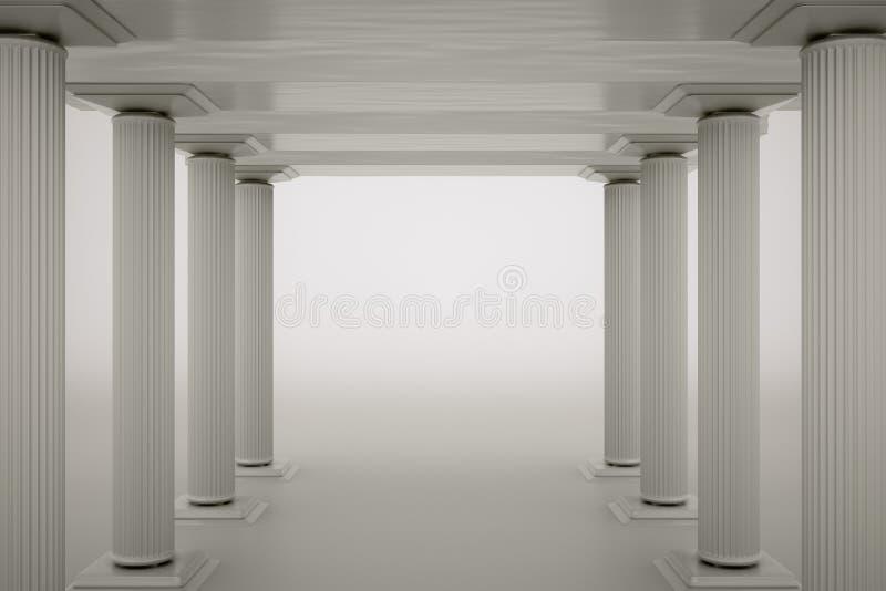 Download Columns stock illustration. Image of interior, architecture - 25111189