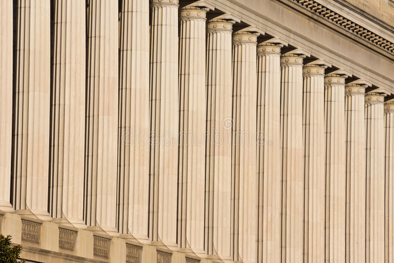 Columns. Support Roof of Government Building stock images