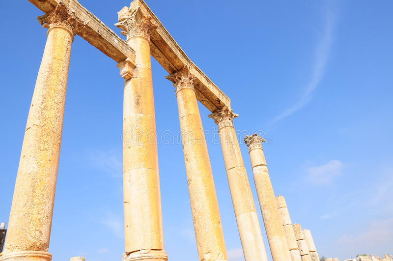 Columns in ancient city