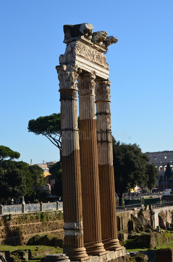 Columns in Ancient Rome royalty free stock images