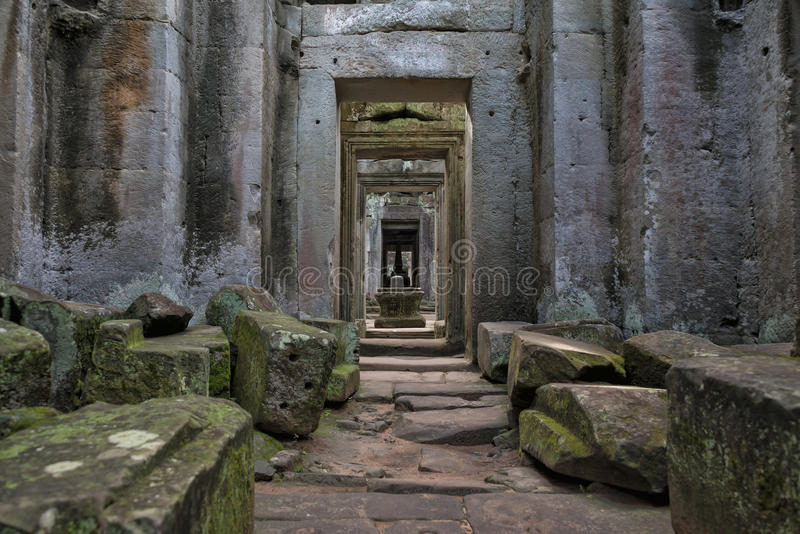 Columns and arches, Angkor Wat, Cambodia royalty free stock images