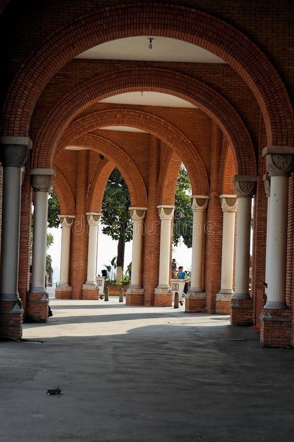 Columns And Arches Basilica Of Aparecida Royalty Free Stock Images