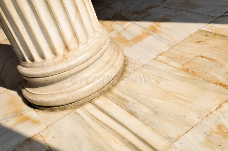Columns in Athens, Greece stock image