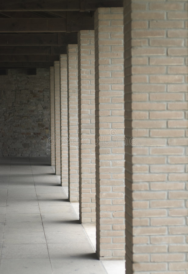 Download Columns of bricks stock photo. Image of perspective, shadows - 4751316
