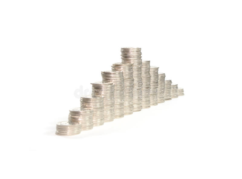 Download Columns of coins stock photo. Image of increase, columns - 13749012