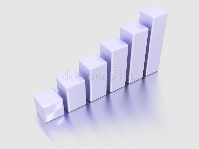Columns of diagram royalty free stock images