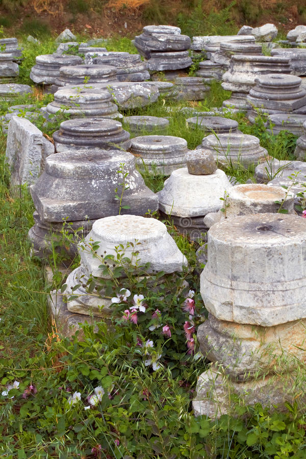 Download Columns in Ephesus, Turkey stock photo. Image of history - 16053910