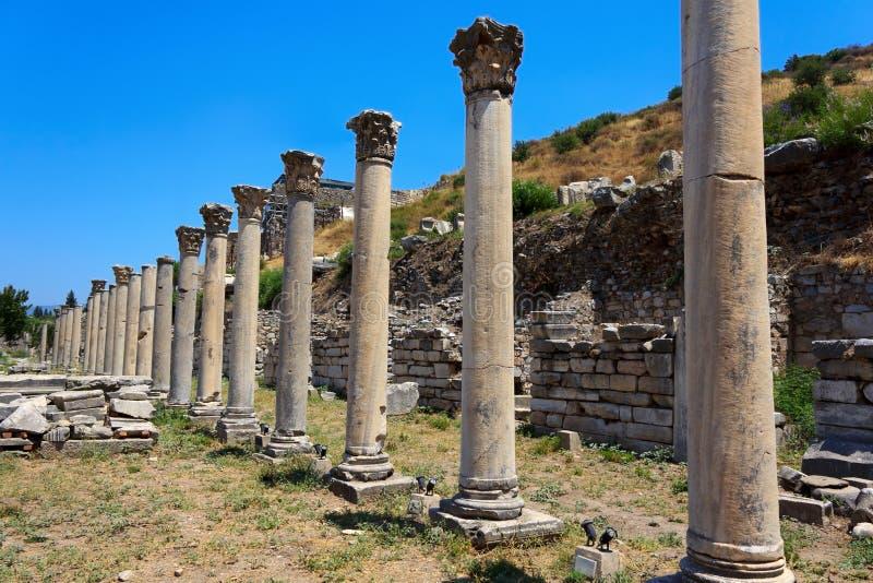 Columns At Ephesus, Turkey Stock Photo