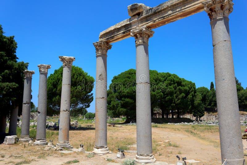 Download Columns at Ephesus, Turkey stock image. Image of mediterranean - 20893829