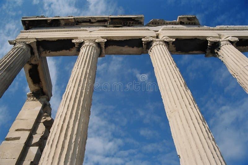Columns of Erechtheion stock photography