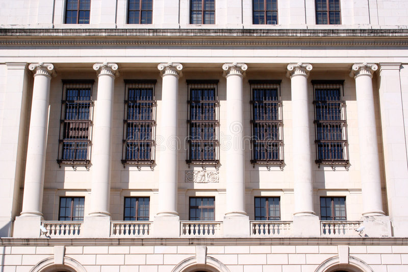 Download Columns On Federal Building Stock Photo - Image: 4716826