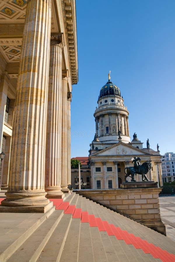 Columns at the Gendarmenmarkt. In Berlin royalty free stock photos