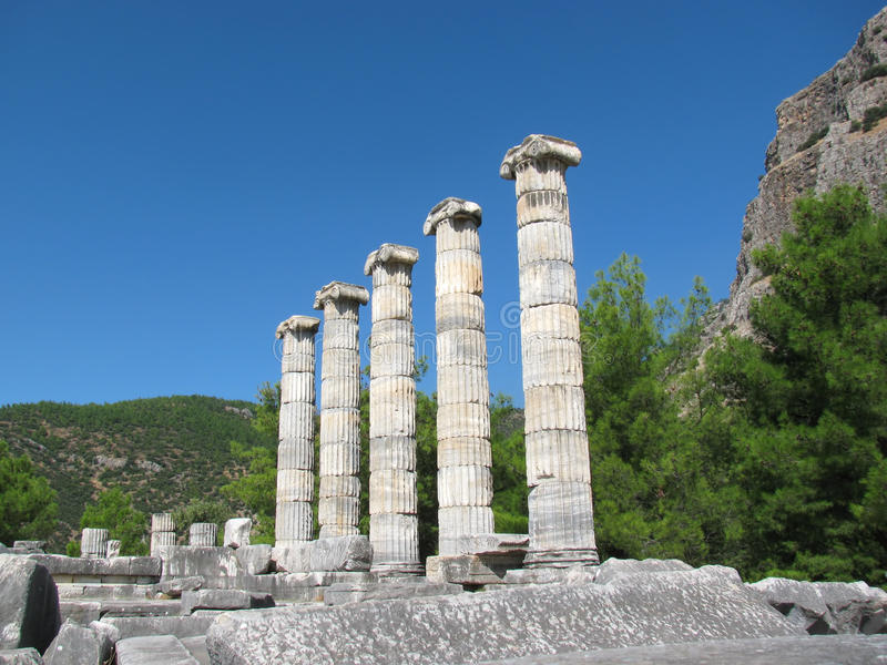Columns of Greek temple royalty free stock photo