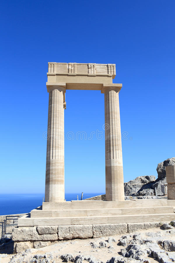 Columns Of Hellenistic Stoa Stock Image