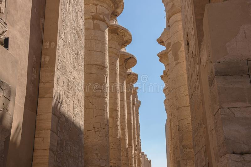 Columns in the hypostyle hall royalty free stock photography