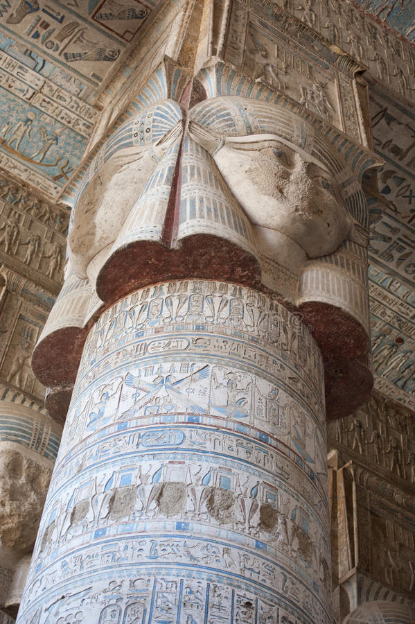 Free Columns In An Ancient Egyptian Temple Royalty Free Stock Photography - 21106937