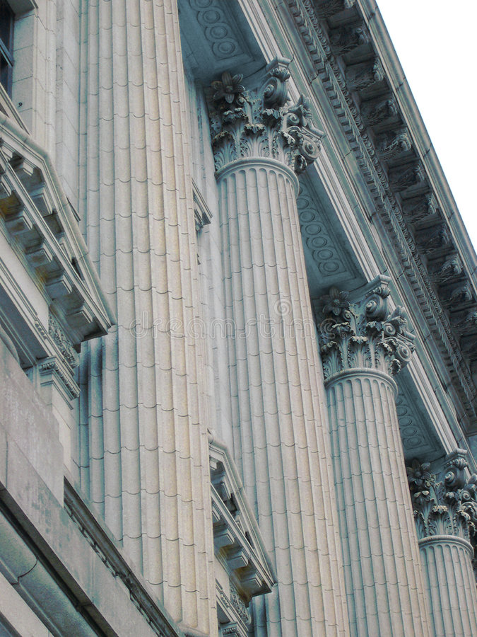 Columns of Justice stock photos