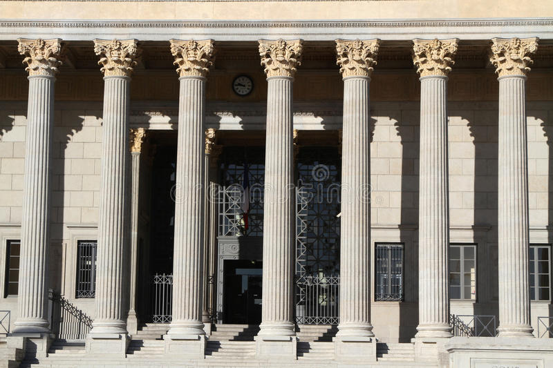 Columns of the Law Court Palace stock image