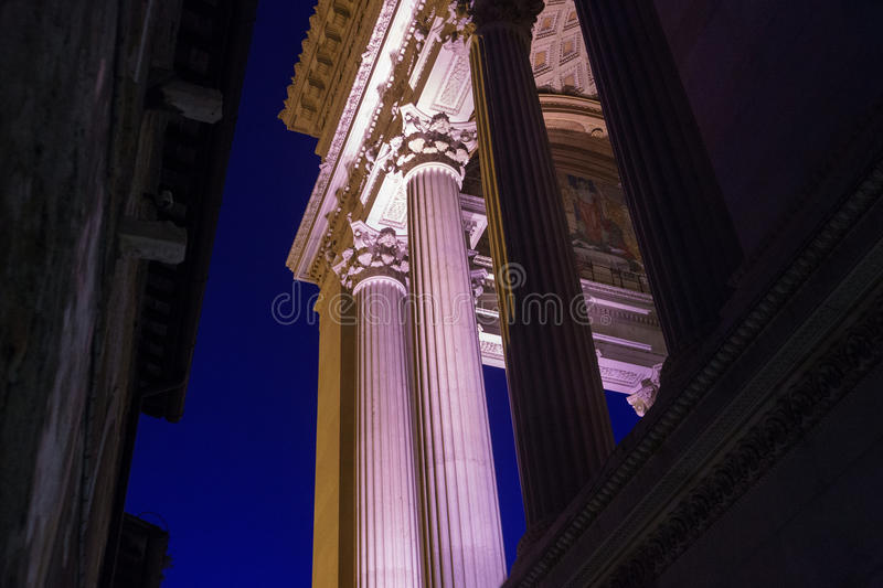 Columns Monument of Victor Emmanuel II royalty free stock photos