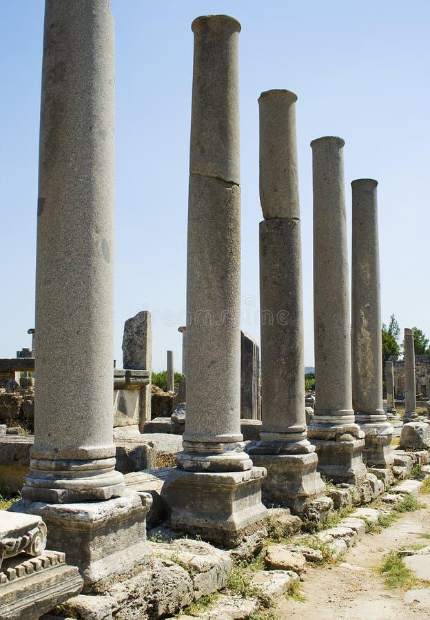 Free Columns Of The Agora In Perga Stock Photography - 12375412