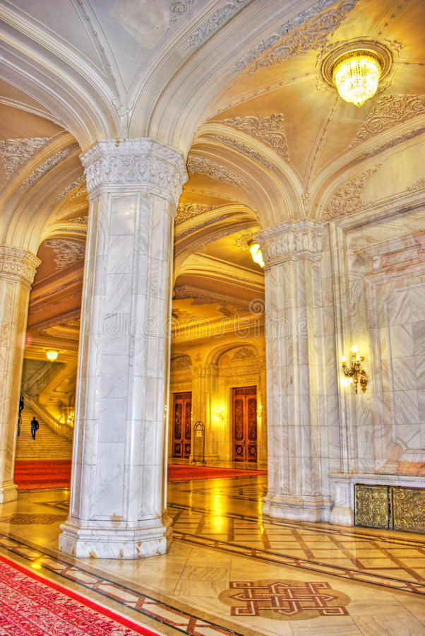 columns in Parliament Palace royalty free stock photos