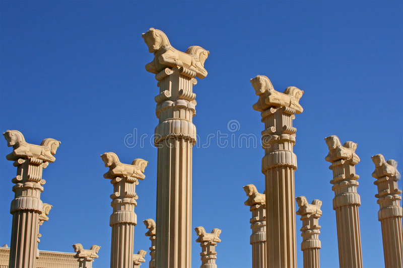 Architectural Columns And Pillars : Columns of persian horses stock photo image