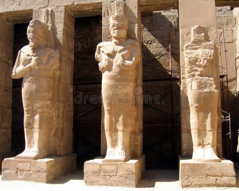 Columns with pharaohs stock photo