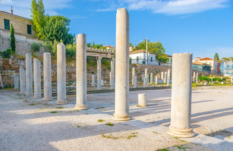 Columns in Roman Agora royalty free stock images