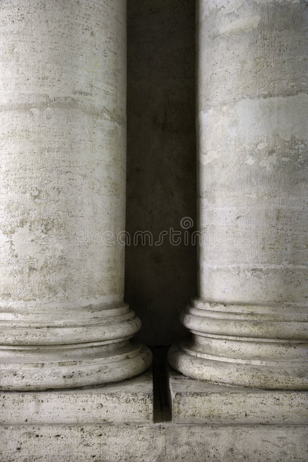 Columns At The Roman Forum In Italy. Royalty Free Stock Photo