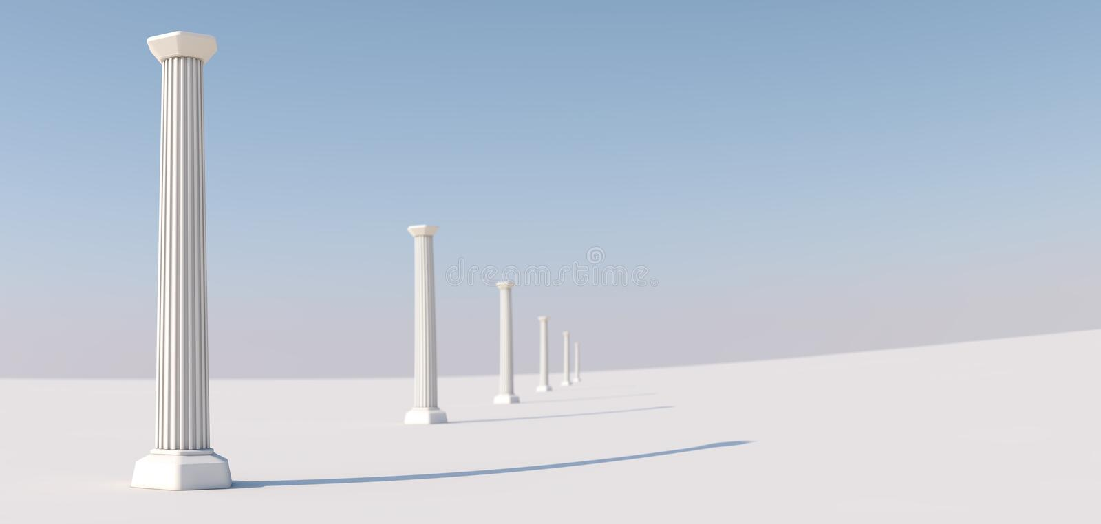 Download Columns In A Row Stock Illustration - Image: 60722729