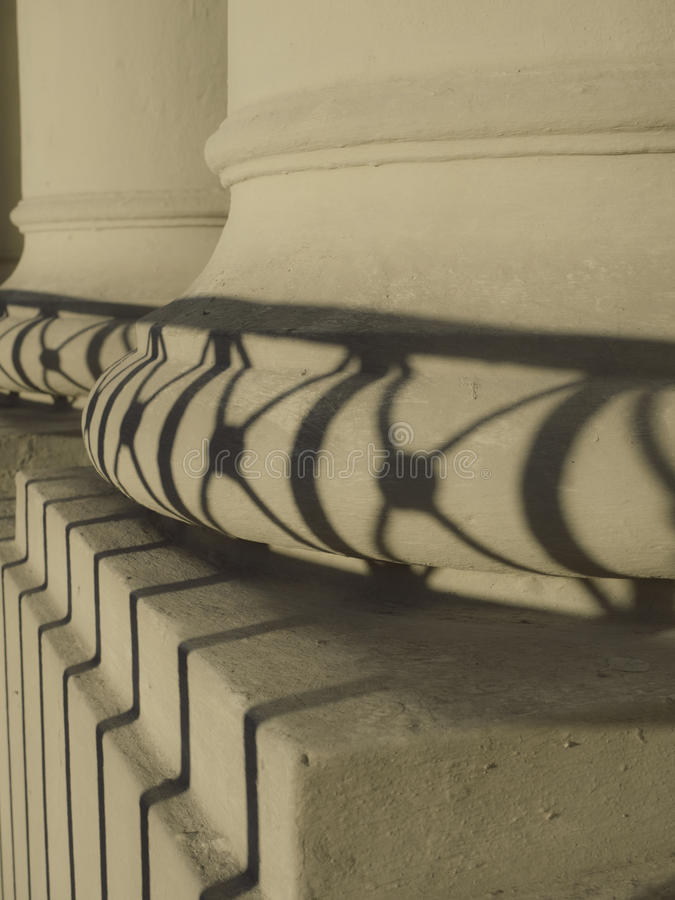 Columns and Shadows royalty free stock photos